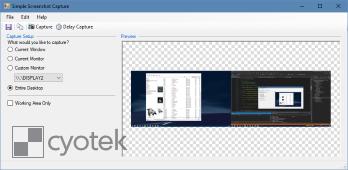Capturing a screenshot of the entire desktop