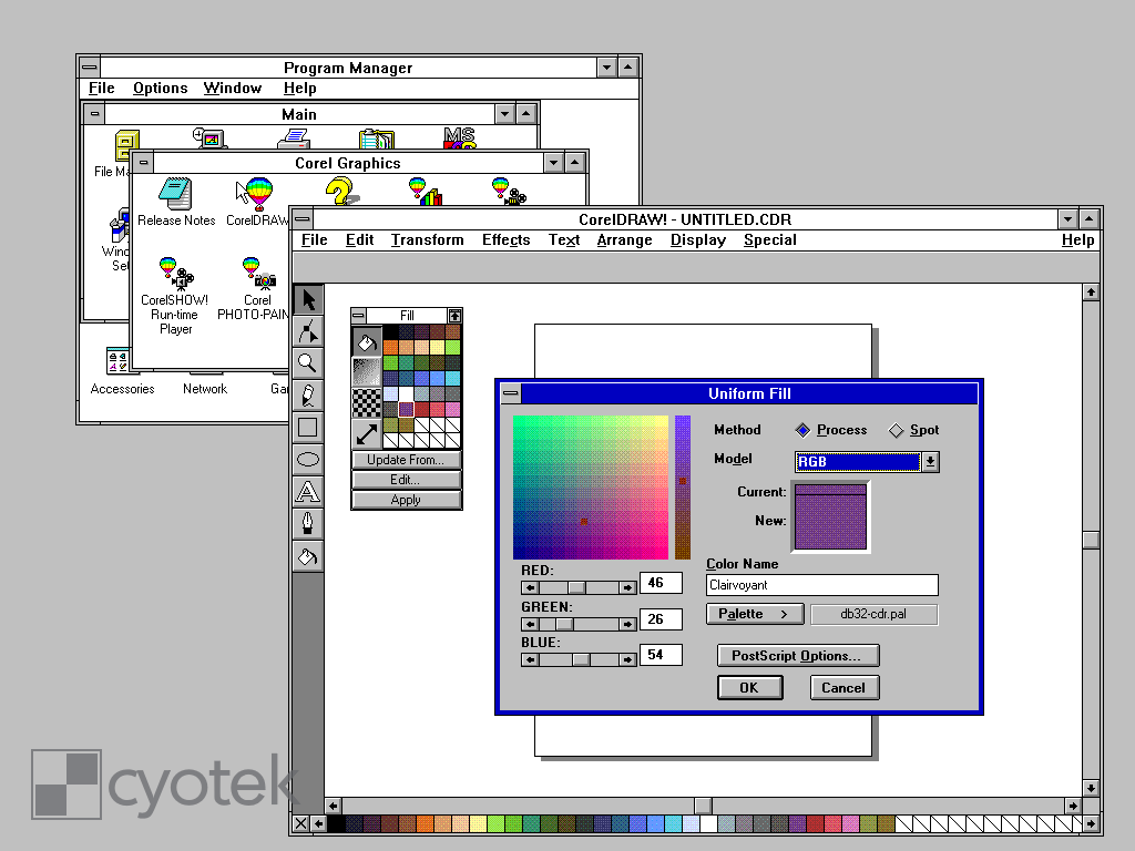 Working with CorelDRAW Palettes part 1, reading  pal files