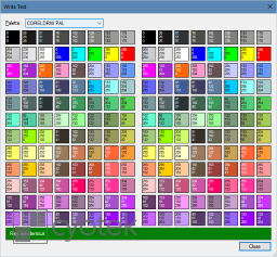 The sample application adapted to support writing CorelDRAW palettes