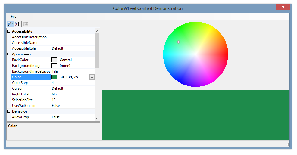 ColorPicker Controls for Windows Forms - Articles and information on