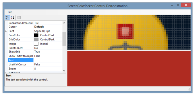 ScreenColorPicker controls demonstration