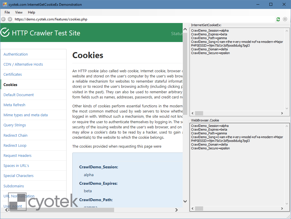 Reading cookies from Internet Explorer - Articles and information on