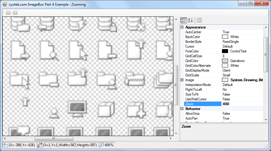 Creating a scrollable and zoomable image viewer in C# Part 4