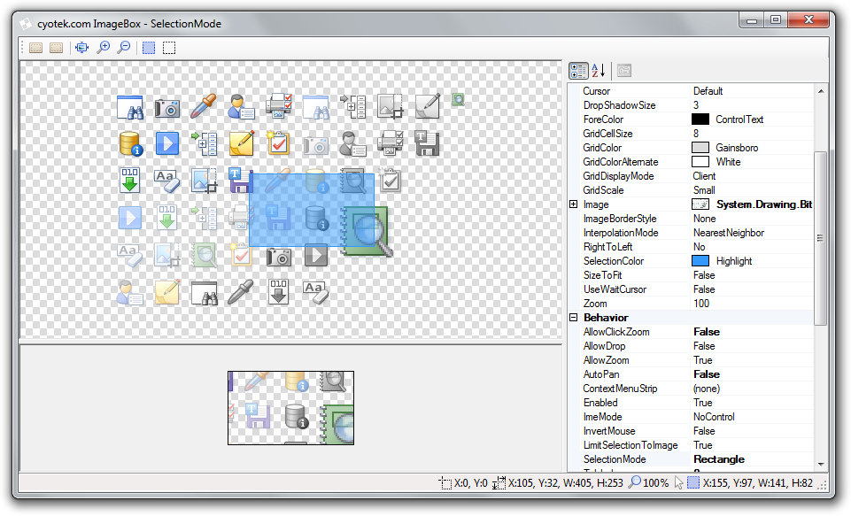 Creating an image viewer in C# Part 5: Selecting part of an image