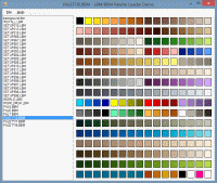 A sample application showing loading of palettes from BBM/LBM files