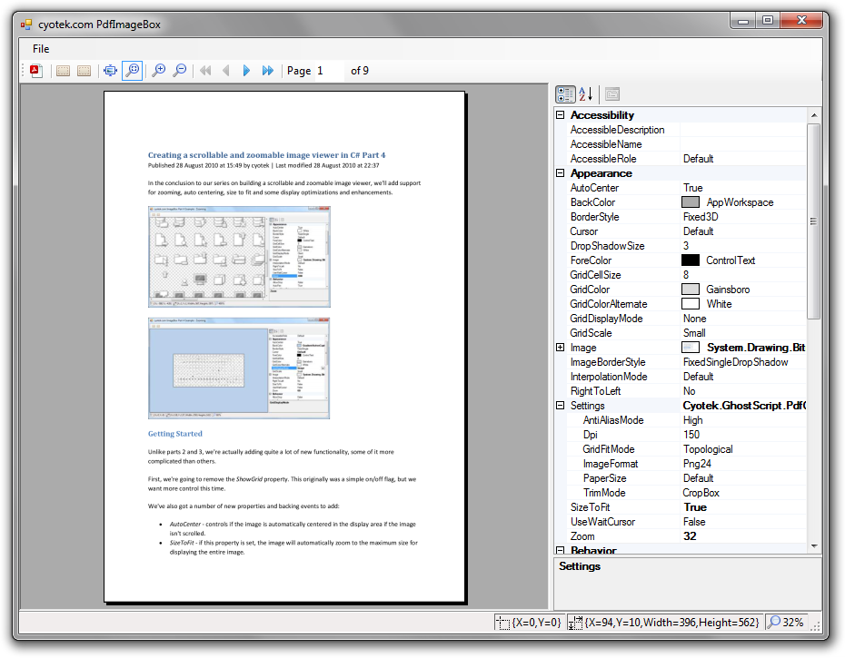 Convert a PDF into a series of images using C# and