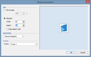 Resize an animation and all the frames within it