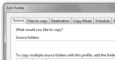 Multiple source and destination folders