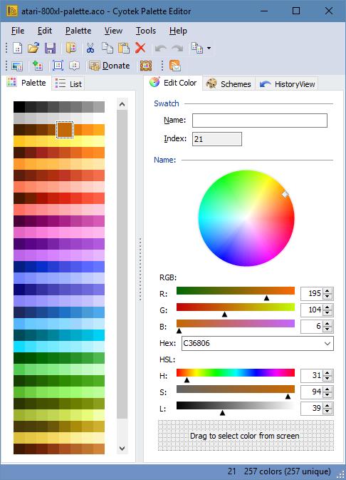 Cyotek Color Palette Editor Color Palette Editing Made Easy Cyotek