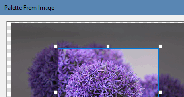 Creating a palette from an existing image