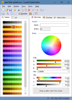 The palette editor main window