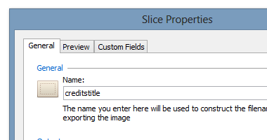 Custom options can be set per slice if required